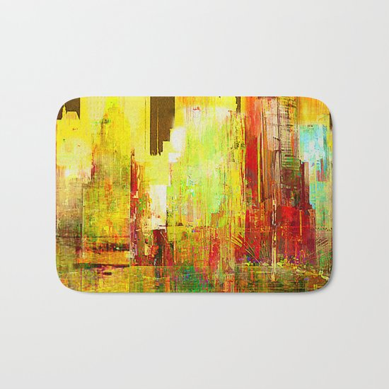 Reflection of a city Bath Mat
