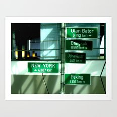 Where to next ? Art Print