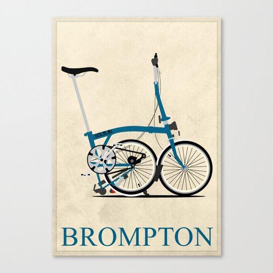 Brompton Bike Canvas Print