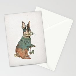 Winter Rabbit Stationery Cards