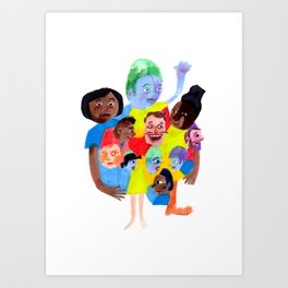 Wouldn't it be boring if we all looked the same? Art Print