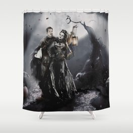 Halloween Outlaw Queen Shower Curtain