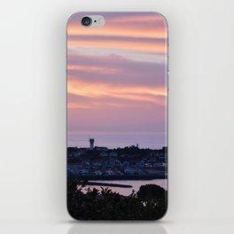 Pink sky on the sea iPhone Skin