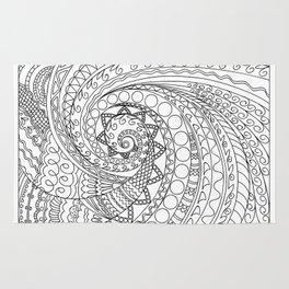 abstract zen tangled pattern swirl -2 Rug