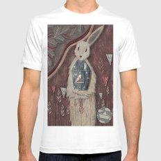 Chaising rabbit Mens Fitted Tee MEDIUM White