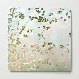 mosaica glitterati in blue + gold Metal Print