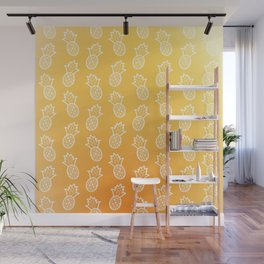 Gold Pineapples Wall Mural