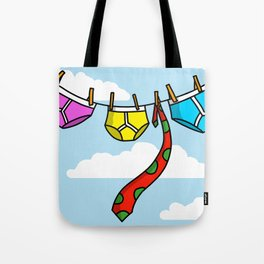 Underpants On The Line, With A Tie Tote Bag