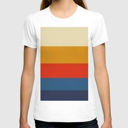 Summer of 69 Vintage Color Palette Colorful Color Block Pattern T-shirt