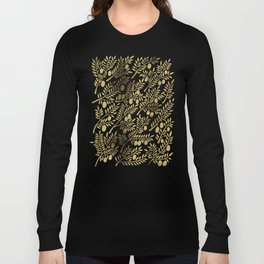 Gold Olive Branches Long Sleeve T-shirt