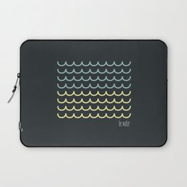 Blue and  yellow waves Laptop Sleeve