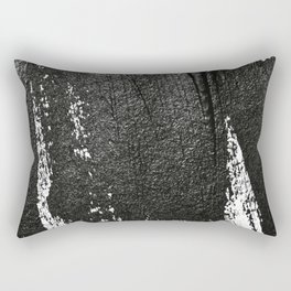 CONFIDENT - black , with no background Rectangular Pillow