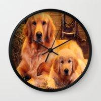mom Wall Clocks featuring Mom by Robin Curtiss