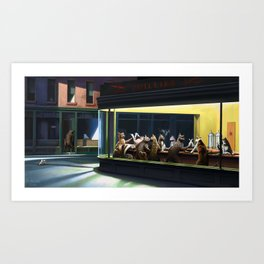 Big Night Out Art Print