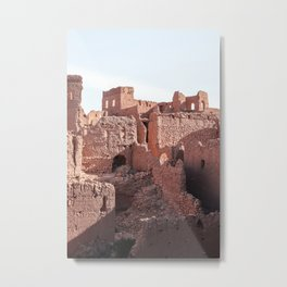 Old Building Ruin Walls Art Print | Historical Place Picture | Morocco Travel Photography Metal Print