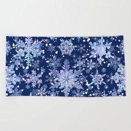 Snowflakes #3 Beach Towel
