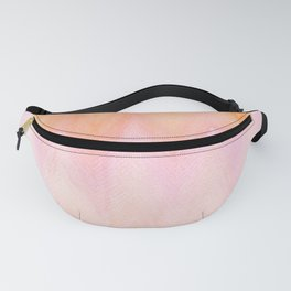 Blush pink orange watercolor hand painted ombre ikat Fanny Pack
