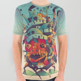 Moving Castle All Over Graphic Tee