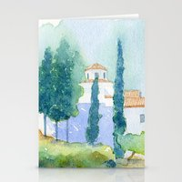 greek Stationery Cards featuring Greek monastery by Carl Conway