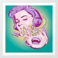 Happily melting Marilyn Art Print