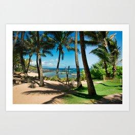 Kuau Beach Paia Maui North Shore Hawaii Art Print