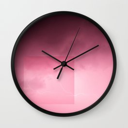 Pink Lightning Wall Clock