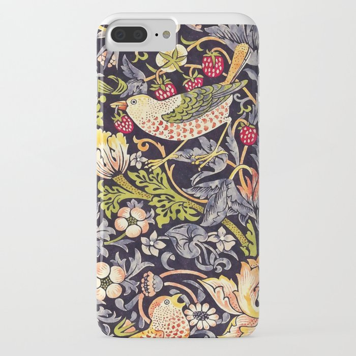 william morris strawberry thief art nouveau painting iphone case