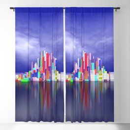city in nowhereland Blackout Curtain