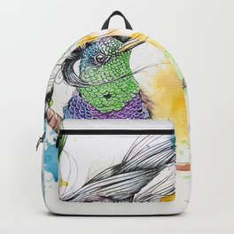 Rainbow Hummingbird on a Swing Backpack