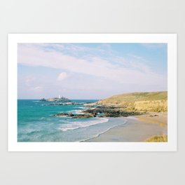Godrevy Lighthouse, Cornwall Art Print