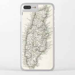 Map of Jamaica - 1780 Clear iPhone Case