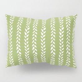 Sap Vines - nature spring leaves green pattern Pillow Sham
