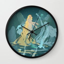 Nymph of the river Wall Clock