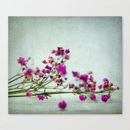 pink florets branch Canvas Print