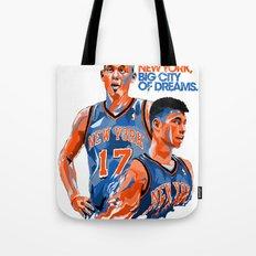 Jeremy Lin: New York, New York, Big City of Dreams. Tote Bag