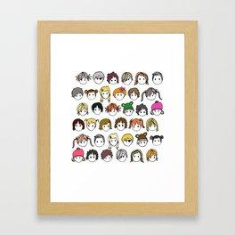 United Colours of Children (colour) Framed Art Print