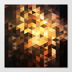 Triangle Design Chocolate Canvas Print