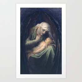 George Frederic Watts 1817–1904   Death Crowning Innocence Art Print