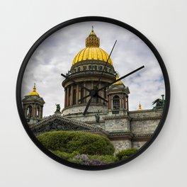 Saint Isaacs Cathedral Saint Petersburg Wall Clock