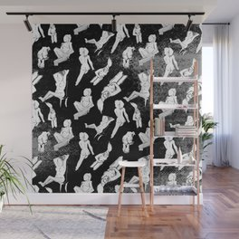 Life Drawing Images as Fashion Pattern Wall Mural