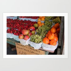 Les Fruits Art Print