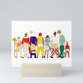 Fast Food Butts Mascots Mini Art Print