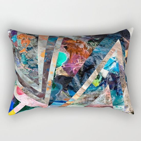 Triangle Forest Abstract Rainbow Rectangular Pillow