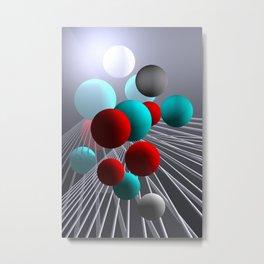 crazy lines and balls -10- Metal Print