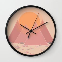 The quiet mountains Wall Clock