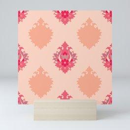 Shah-Abbasi Flower Pattern (Pink) Mini Art Print