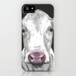 Cow art 'Mable' for your Farmhouse Chic Decor iPhone Case
