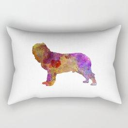 Napolitan Mastiff in watercolor Rectangular Pillow