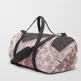 Marble . Combined abstract pattern . Duffle Bag