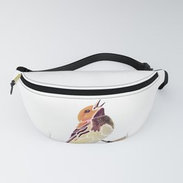 Watercolor Song bird // Wildlife Yellow Meadow Lark // White Background Fanny Pack